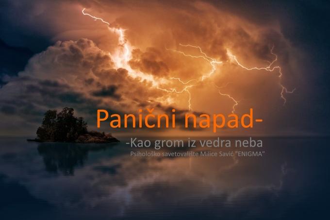 Panični napad-Kao grom iz vedraneba