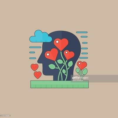 Heart Shape, Human Brain, Symbol, Mental Health, Emotion