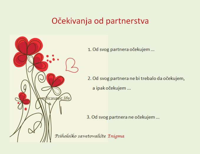 Ocekivanja od partnerstva Blog