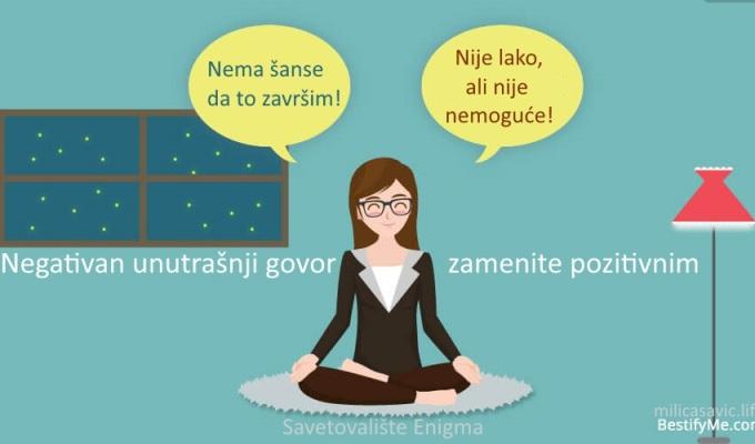 ANKSIOZNOST-Negativan unutrašnji govor zamenitepozitivnim